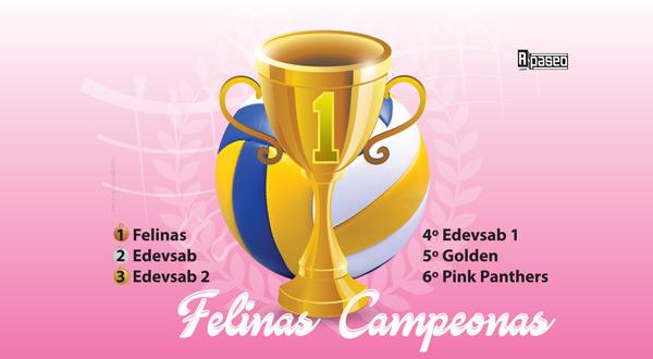 Campeonas Felinas voleibol feb 2018