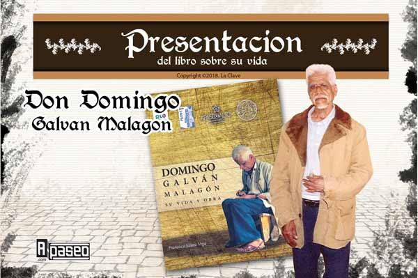 Domingo Galván presentación del libro