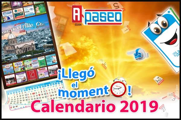 Calendario 2019 Apaseo el Alto