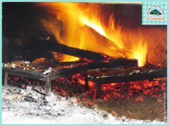 Cocinando al horno El Caminante mariscos