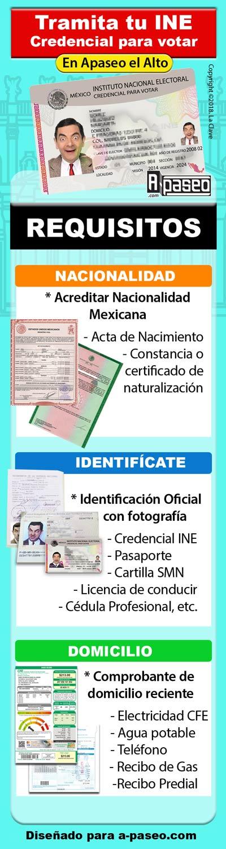 ¿ Dónde tramito credencial para votar INE en Apaseo el Alto ?