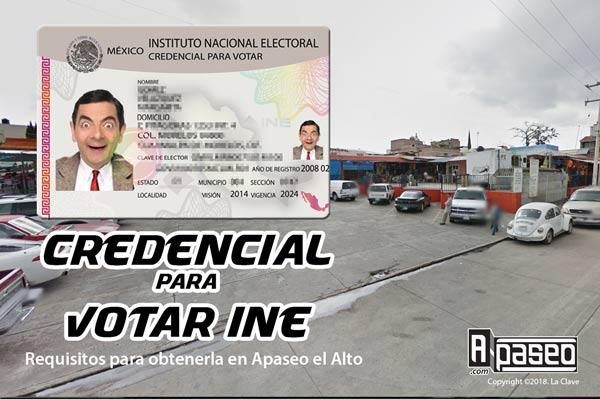 Tramitar credencial INE en Apaseo el Alto