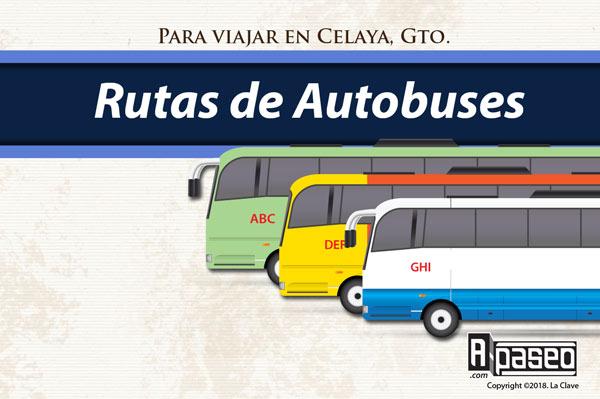 Rutas de transporte en Celaya