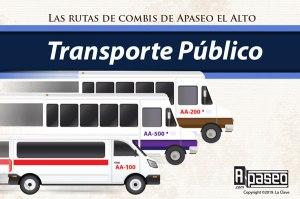 Rutas de transporte publico en Apaseo el Alto, las combis