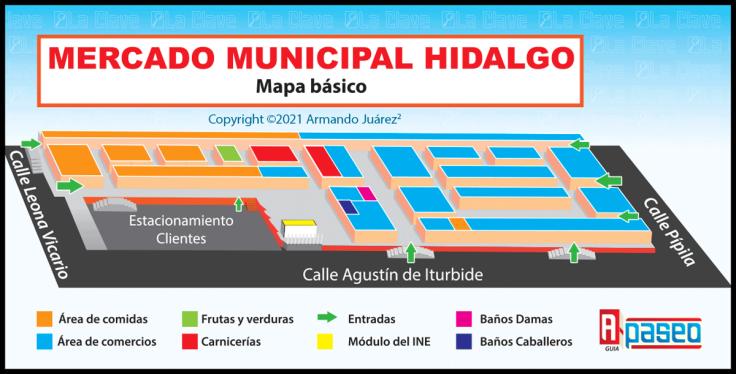 Mercado Hidalgo de Apaseo el Alto Mapa