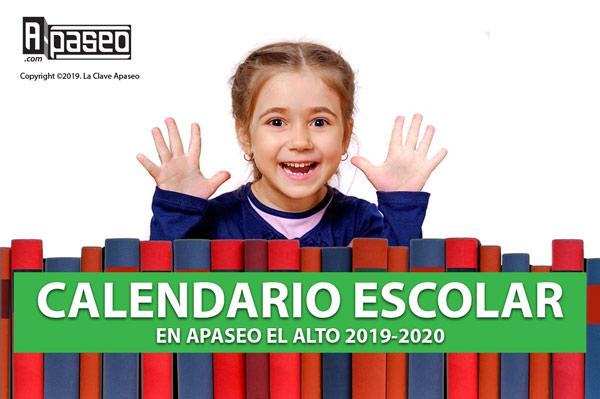 Calendario escolar México, Ciclo 2019-2020.