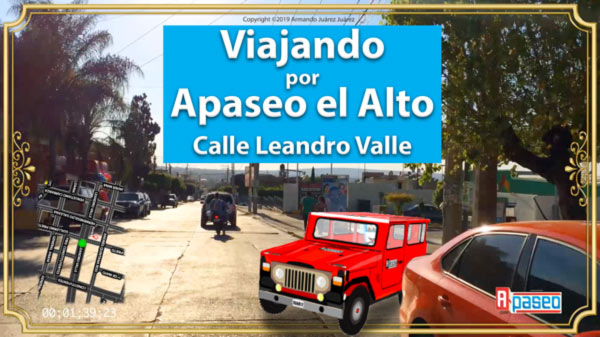 Viajando por calle Leandro Valle Apaseo el Alto