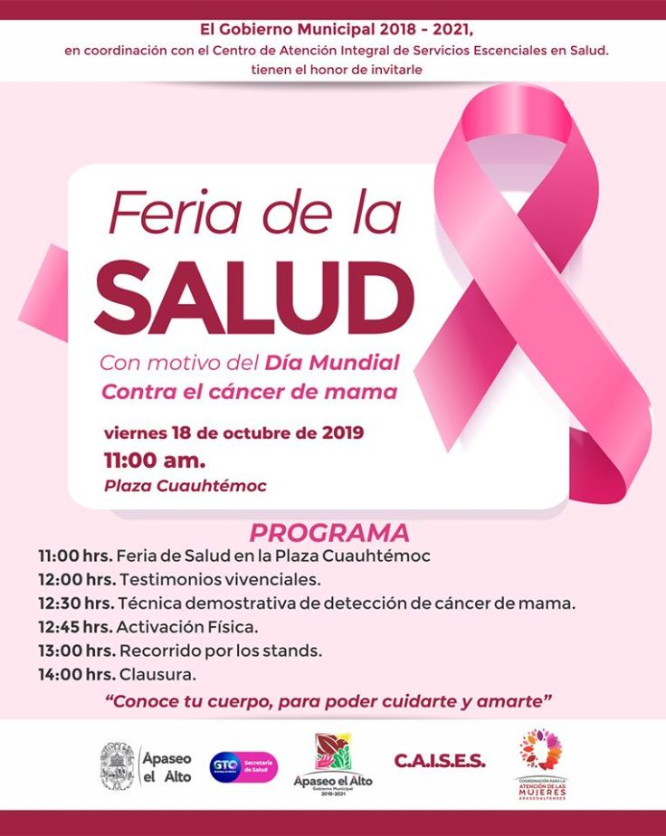 Feria de la salud lucha contra Cancer de mama