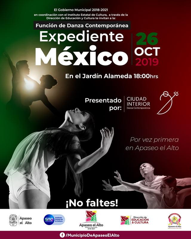 Expediente México función de danza contemporánea